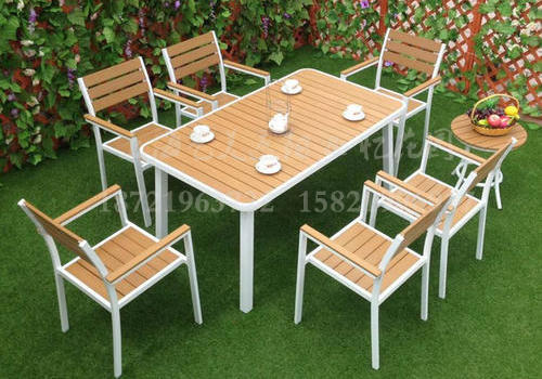 J06-102(1+6塑木桌椅)
