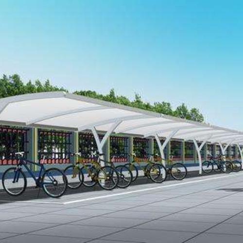 膜結構自行車棚