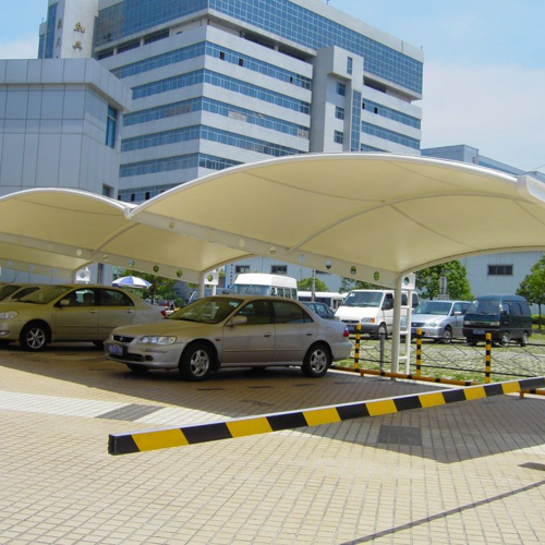 膜結構汽車停車場、戶外膜結構、戶外汽車棚膜結構、景觀棚