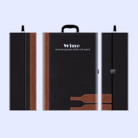 葡萄酒皮质包装盒