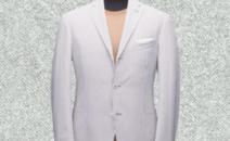 白色条纹毛料西服
