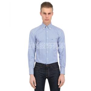 经典蓝色条纹衬衫