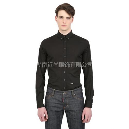 经典黑色免烫衬衫
