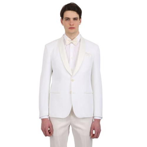 白色时尚结婚西服套装