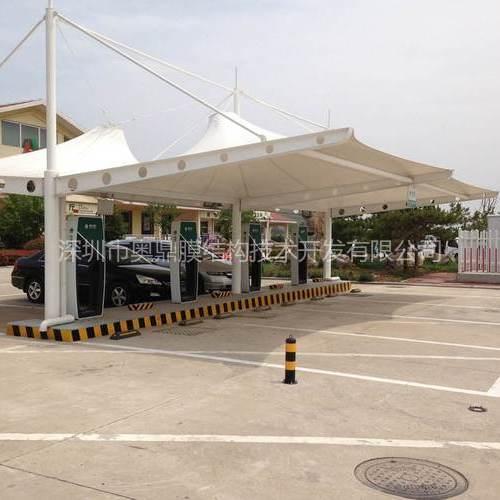 来宾市加油站膜结构工程,来宾市张拉膜结构