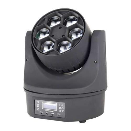 产品名称:MJ-A063 6颗15W四合一光束蜂眼灯