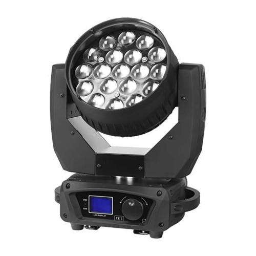 产品名称:MJ-A061 LED 19颗调焦摇头灯