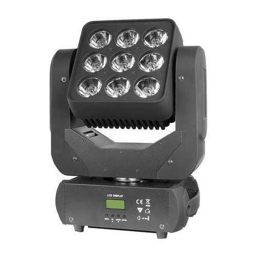 产品名称:MJ-A069 9颗LED无极摇头矩阵灯