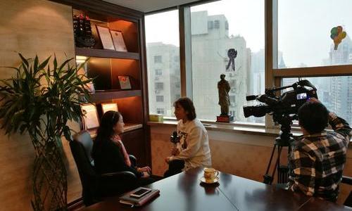 莱蒙国际接受浦东新区电视台采访