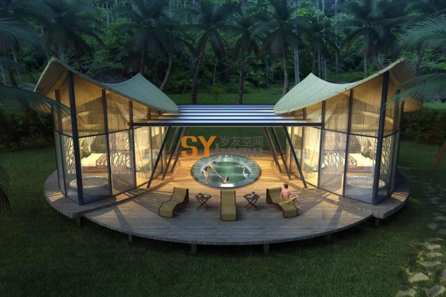 林宿-叶之屋,一栋为自然美景而设计的叶子房,一片叶子融入一片森林