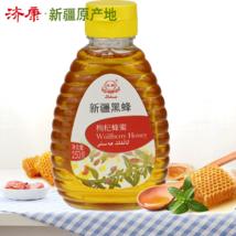 濟康新疆黑蜂蜂蜜 天然產地蜜源枸杞花蜂蜜擠壓瓶250g 蜂蜜包郵