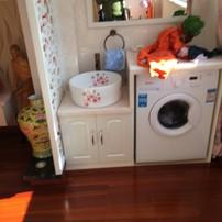 阳台洗衣机和洗脸盆一体柜