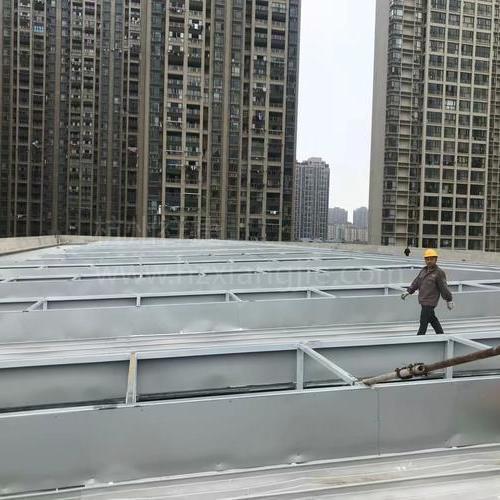 江西省南昌高新区艾溪湖羽毛球馆超白玻U型玻璃2000方屋面工程