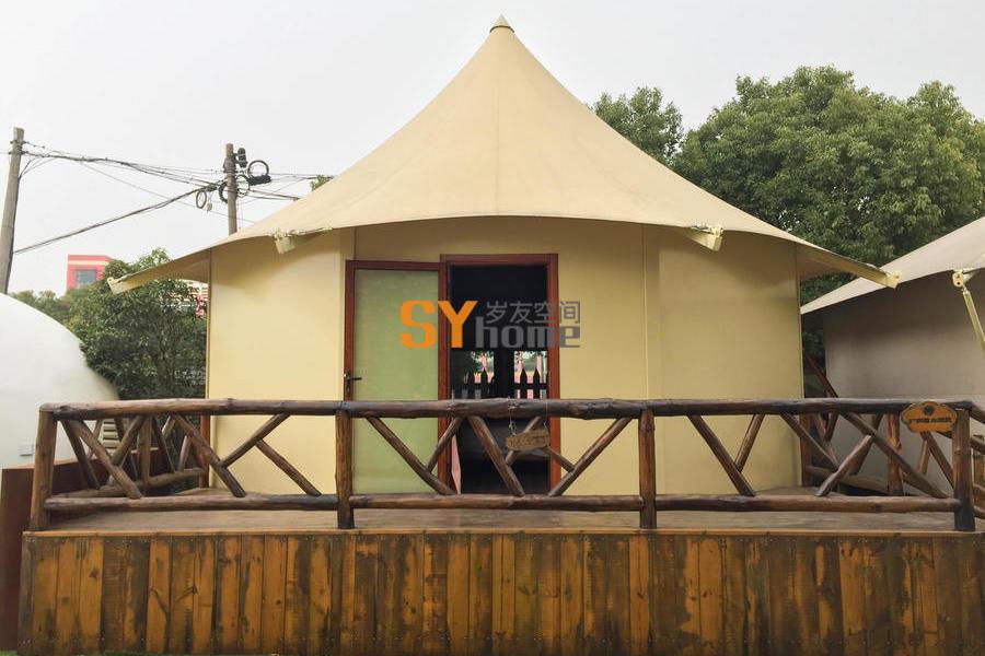 野奢八边形硬顶帐篷房