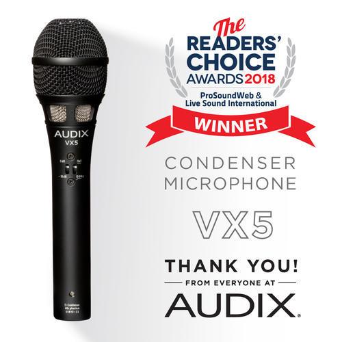 AUDIX VX5获得读者推荐大奖