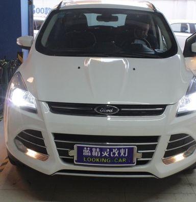 上海大灯总成改装福特翼虎改海拉5透镜海拉氙气大灯