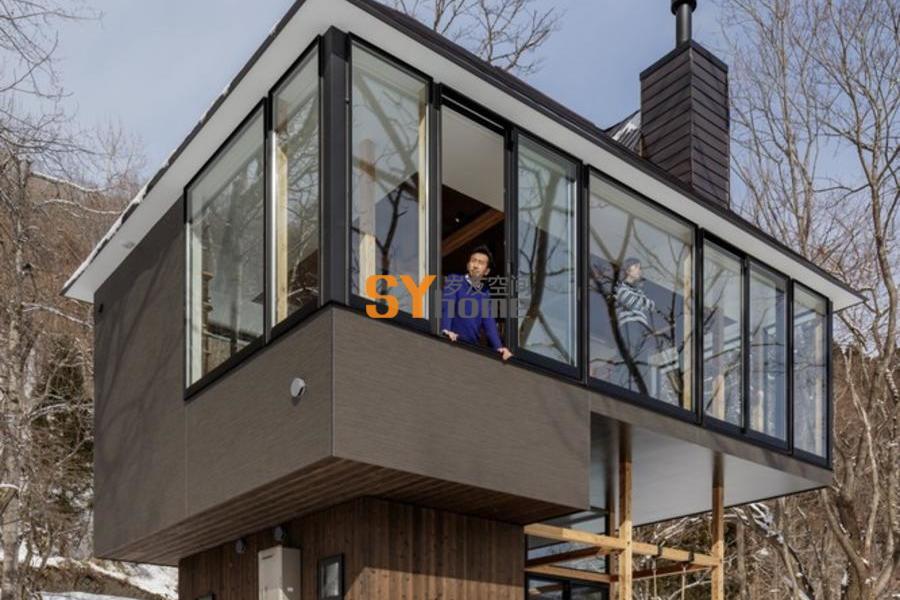 重新定义横向建筑元素的开放式景观的日本住宅