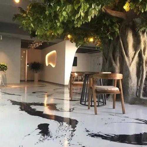 泼墨地坪-复古怀旧地坪