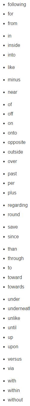 英语中常见介词有哪些