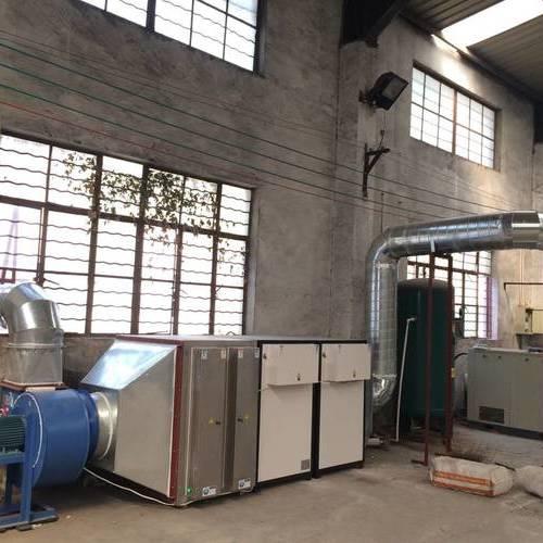 光氧废气净化设备安装现场