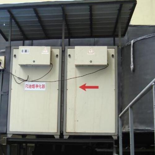 工厂油烟净化器现场安装图