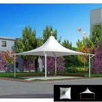广州张拉膜结构|500平米停车棚膜结构|奥鼎膜结构施工