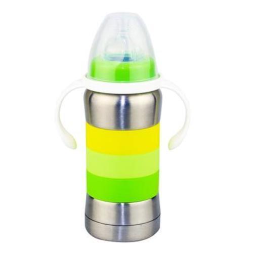 稚音炫彩型四合一不銹鋼保溫奶瓶/吸管杯/保溫杯 270ml顏色隨機發