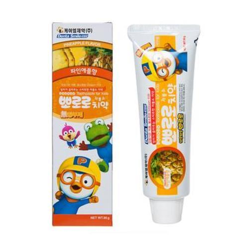 韓國啵樂樂Pororo兒童可吞咽牙膏 2歲以上(菠蘿味)90g