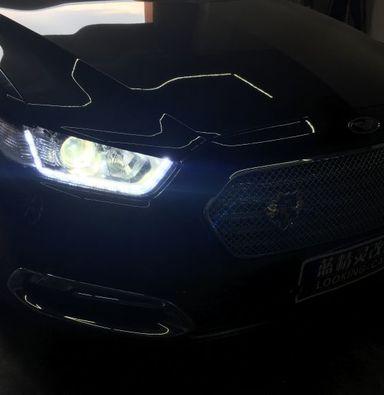 福特金牛座改LED车灯定制海拉5双光透镜氙气灯泡LED日行灯