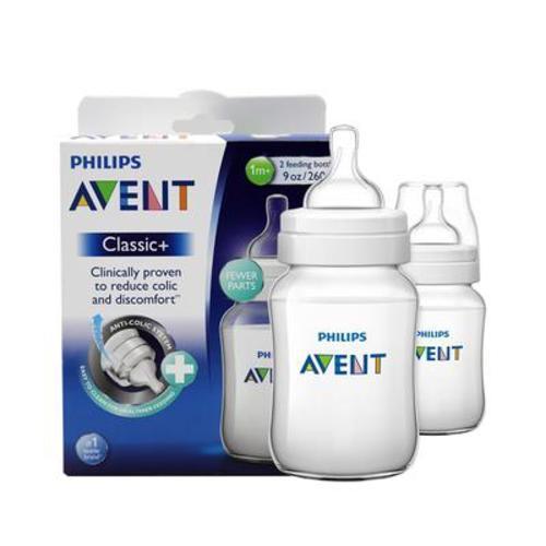 英國新安怡AVENT經典系列寬口徑PP奶瓶260ml(2個裝)