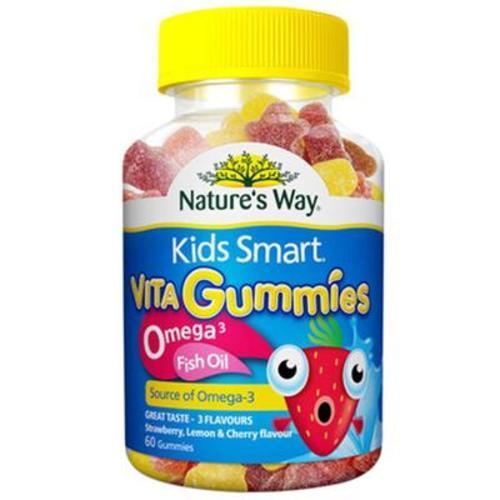 澳大利亞佳思敏 Nature's Way 兒童魚油軟糖+omega3 60粒