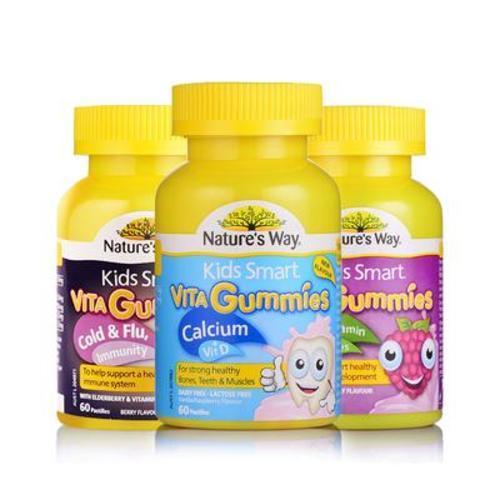 澳洲佳思敏Nature's Way兒童(鈣+維生素D軟糖 +增強免疫力軟糖+ 維生素+蔬菜軟糖)60粒