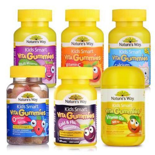 澳洲佳思敏Nature's Way (VC+VD+魚油+鈣D+蔬菜+抗感冒)六種軟糖組合裝