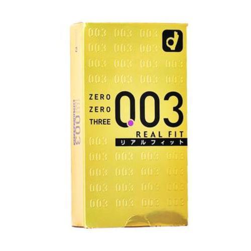 日本Okamoto岡本003避孕套貼身光滑10只裝(黃金版)