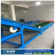 上海世配裙边带挡板输送�设备 大倾笑容角提升 输送产能↑强 可远距�e离输送