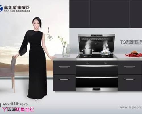 蓝炬星牵手周迅 成就集成厨电领域核心竞争力品牌!