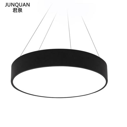君泉(JunQuan) LED吊灯 简约现代办公室圆形铁艺吊灯 客厅灯餐厅灯工程灯写字楼工作室车间会议室灯具灯饰