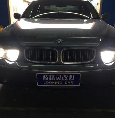 宝马7系745大灯改装米石LED智能双光透镜大灯模组远光LED灯模组