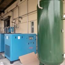 牧德高端永磁变频37kw2台空压机服务于宁波某生物技术有限公司