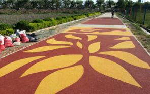 彩色防滑路面是什么材料施工?