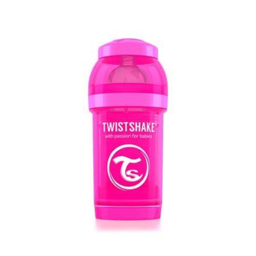 瑞典Twistshake防脹氣彩虹奶瓶 180ml 甜心粉 (s)