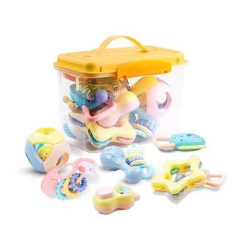 中國貝恩施beiens 手搖鈴嬰幼兒寶寶益智牙膠玩具777-21