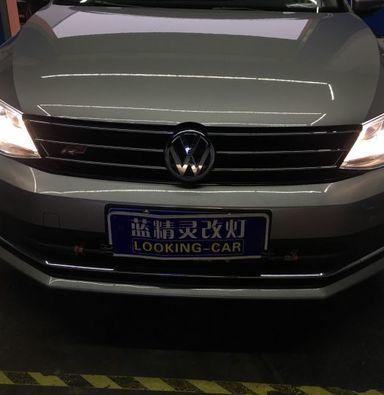 大众新速腾改灯定制海拉5双光透镜LED车灯海拉5000K氙气灯泡安定器