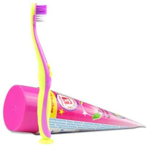 德國寶兒德paul-dent兒童乳牙牙刷(1-6歲)+牙膏水蜜桃味 50ml