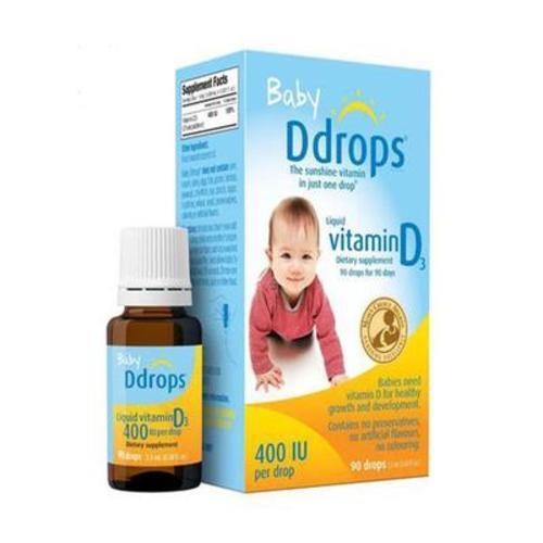 美國Baby Ddrops嬰幼兒童寶寶維生素D3滴劑補鈣VD2.5ML