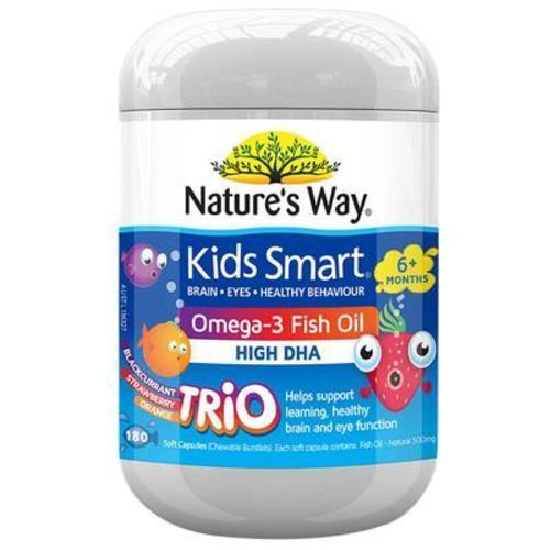 澳洲佳思敏Nature's Way兒童深海魚油3種口味含DHA 180粒
