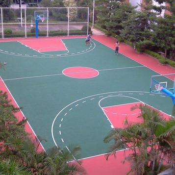 上海管理中心篮球场及围网灯光