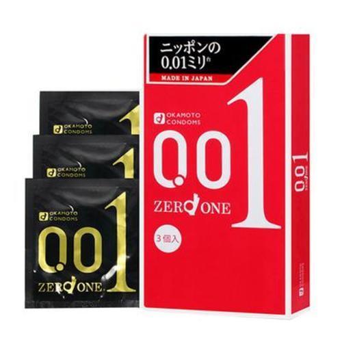 日本Okamoto岡本001超薄避孕套安全套3只裝