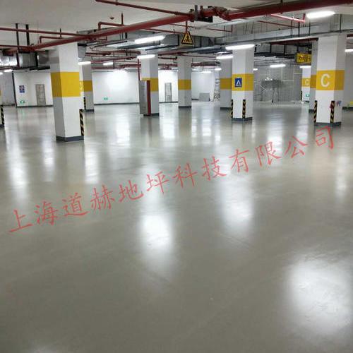 上海宝业中心地下车库水泥自流平地坪