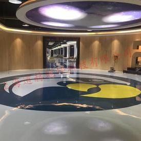 浙江裕华家具材料有限公司展示大厅环氧树脂自流平地坪